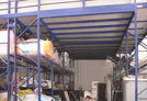 Struttura con soppalchi su scaffalature realizzati ad Asti
