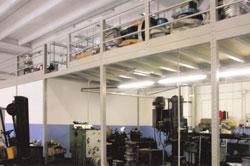 Soppalchi magazzino con ampia area operativa sottostante realizzato ad Asti