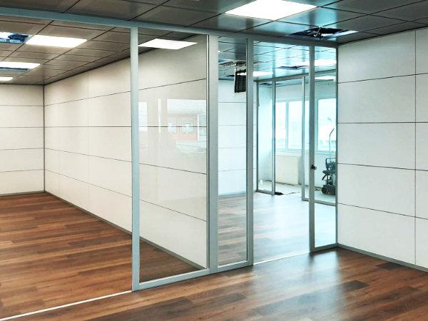 pareti vetro uffici