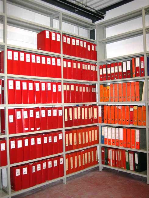scaffalature metalliche uso archivio docucumenti contabili