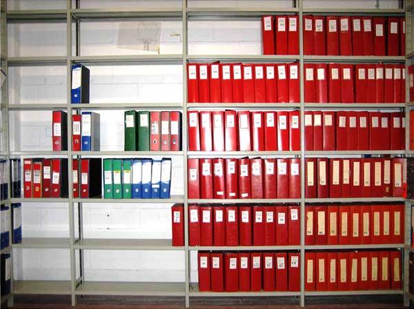 scaffalature per archivio documenti, dossier e faldoni