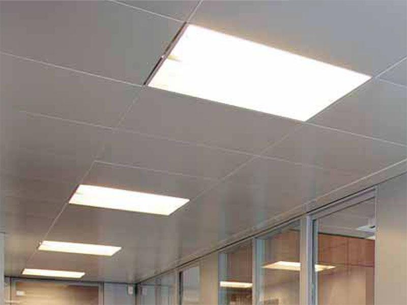 Plafoniere Per Uffici : Controsoffitti per uffici con pareti divisorie