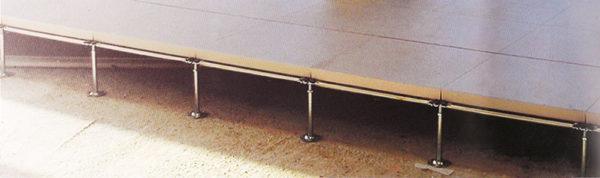 Un esempio di pavimento sopraelevato su pareti divisorie per uffici