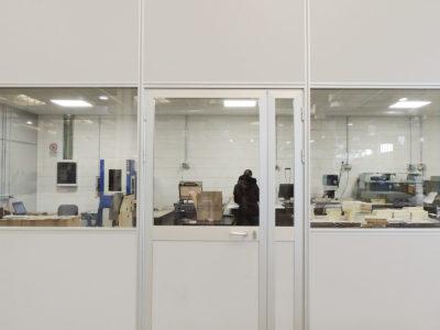 pareti divisorie per spazi protetti in ambienti operativi produttivi