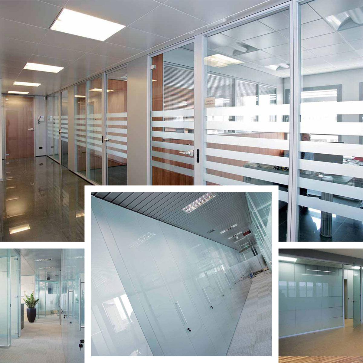 Pareti mobili in vetro per uffici luminosi ed eleganti