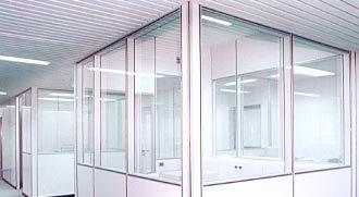 Plafoniere Per Controsoffitti A Doghe : Controsoffitti per uffici con pareti mobili
