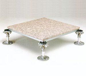 Modulo base utilizzato per i pavimenti sopraelevati degli uffici realizzati con pareti mobili e/o vetrate.