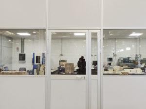 pareti mobili per spazi protetti in ambienti operativi e produttivi