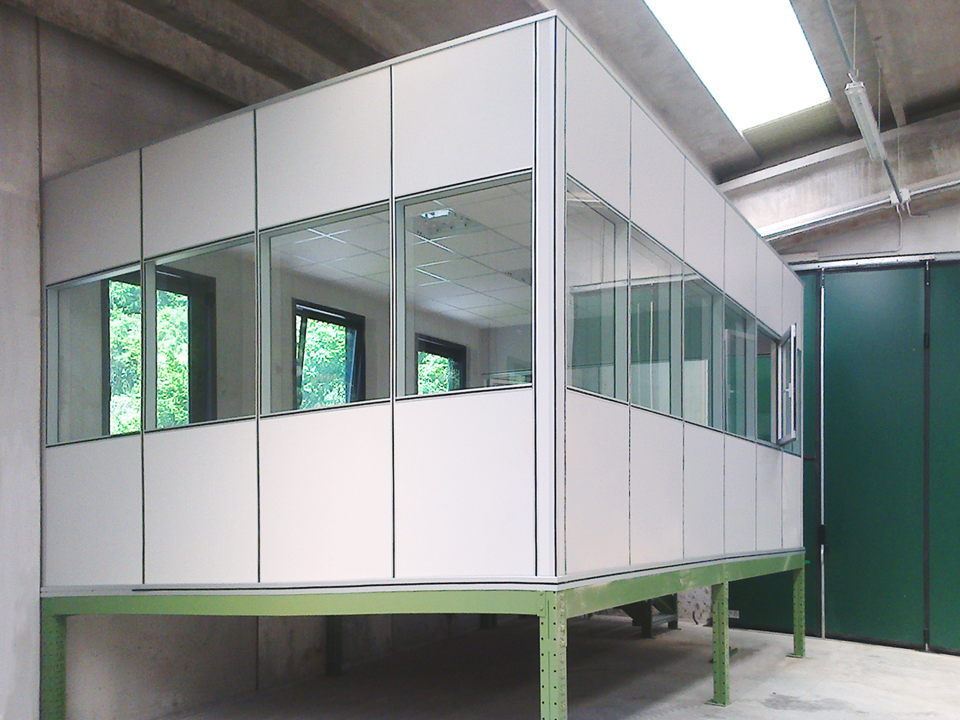 soppalco per ufficio con pareti mobili vetrate soppalchi