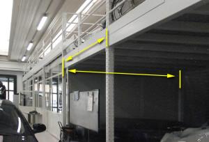 soppalchi ad ampie campate sopra uffici senza colonne e ingombri interni.