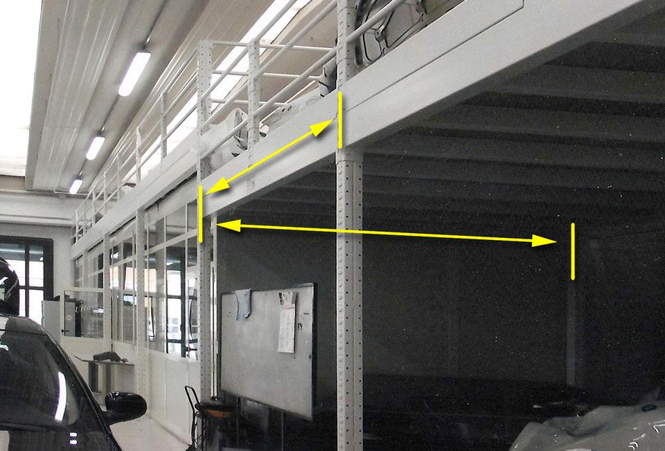 Soppalchi ampie campate sopra uffici soppalchi for Magazzini mobili