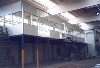 Pareti Ufficio Usate : Soppalchi per ufficio con pareti mobili divisorie vetrate
