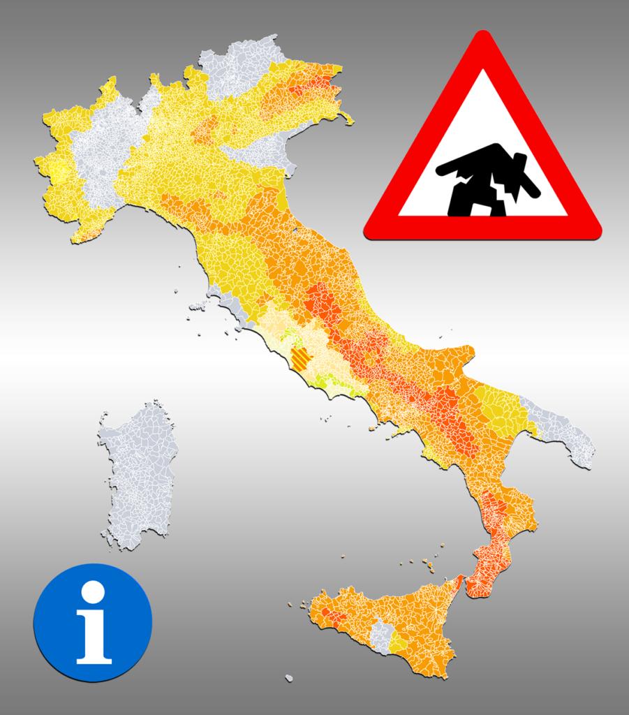 Mappa classificazione sismica comuni italiani 2019