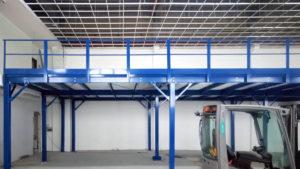 Soppalco antisismico in carpenteria certificato uso magazzino Moncalieri Torino